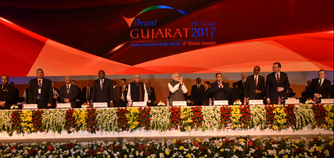 Vibrant Gujarat Global Summit 2017 in Gandhinagar, Gujarat. Credit: pmindia.gov.in