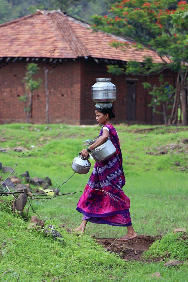 Murbichapada's women walk kilometres for water while the dam provides to Mumbai. Credit: Paresh Bhujbal