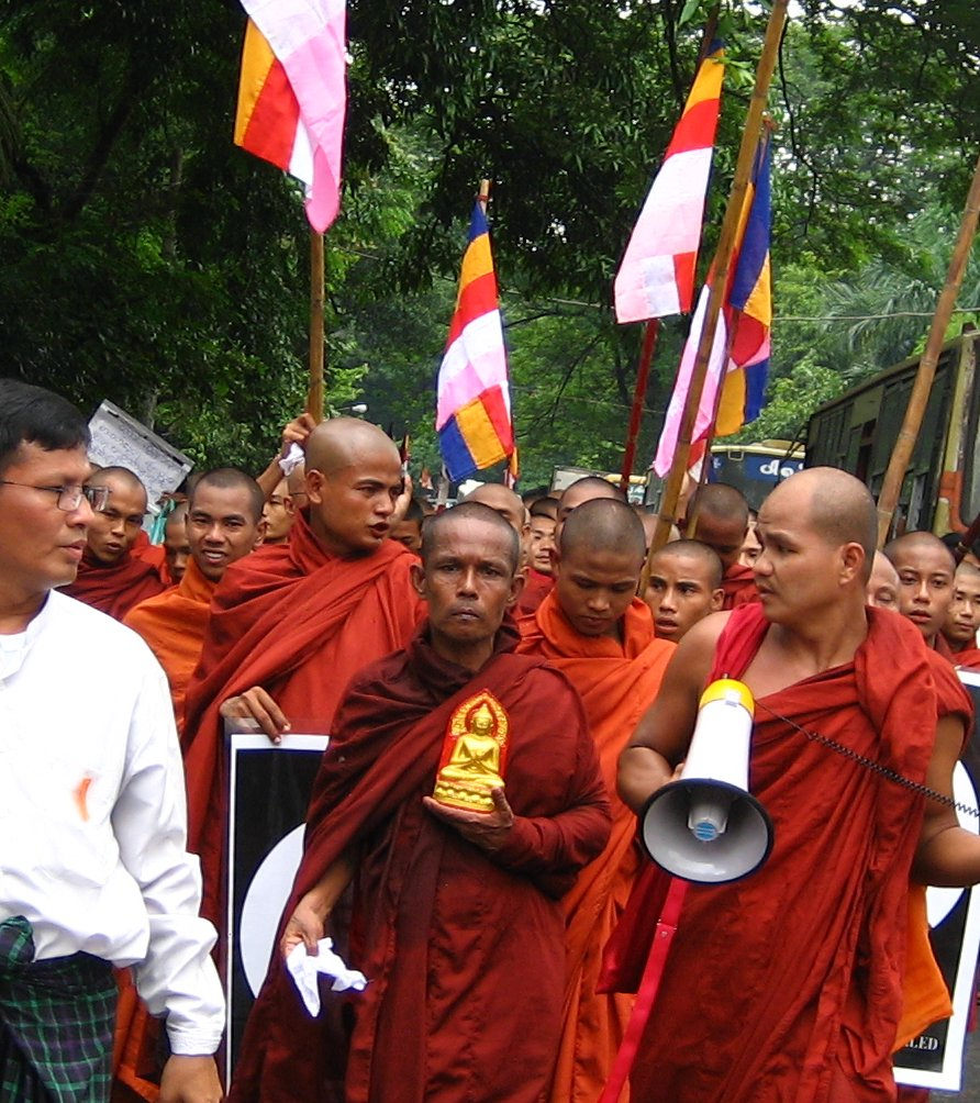 Militant monks are convinced that Buddhism is under siege, and in grave danger of being wiped out. Credit: Wikimedia Commons