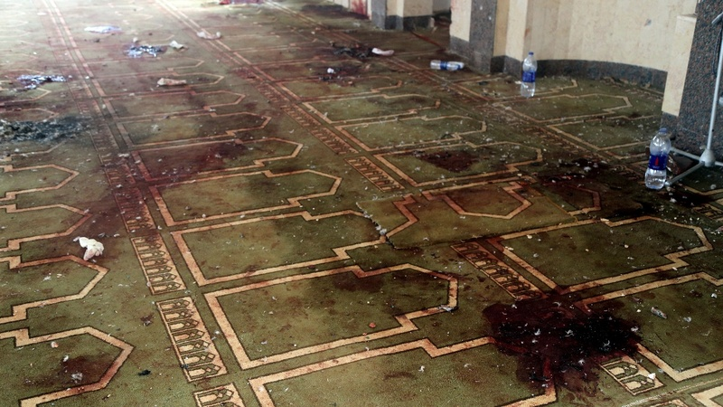 Gunmen in Egypt mosque attack carried ISIS flag. Credit: Reuters TV