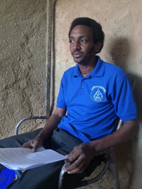 Boubacar Diallo, president of the livestock breeders association of north Tillaberi on the Mali border, goes through a list of over 300 Fulani herders killed by Tuareg raiders in the lawless region, during an interview with Reuters in Niamey, Niger October 31, 2017. Credit: Reuters/Tim Cocks/Files