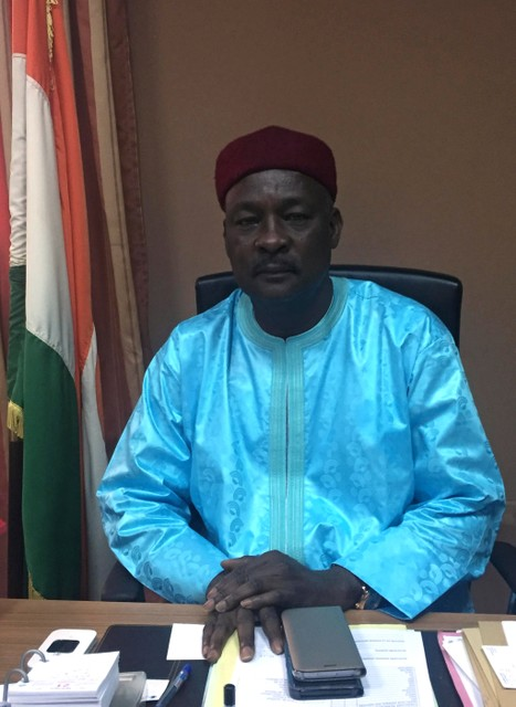 Niger Defence Minister Kalla Mountari poses for a portrait at his office after an interview with Reuters, in Niamey, Niger November 1, 2017. Credit: Reuters/Tim Cocks