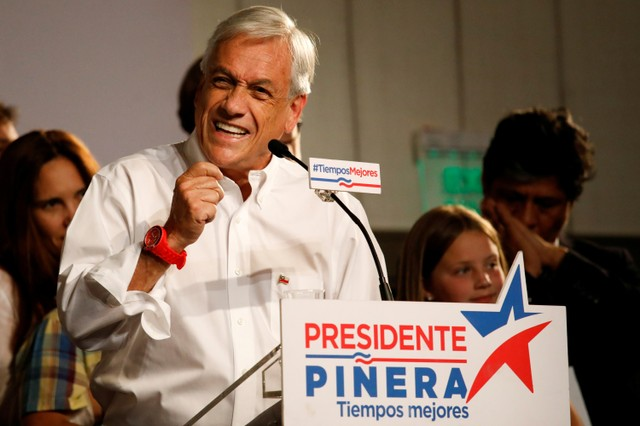 Sebastian Pinera Wins First Round of Chile Election