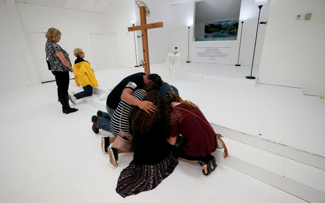 Texas Church Reopens as Solemn Memorial to Victims of Mass Shooting