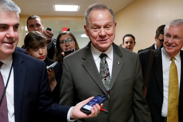 Republican US Senate Candidate Moore Faces Sexual Misconduct Allegations