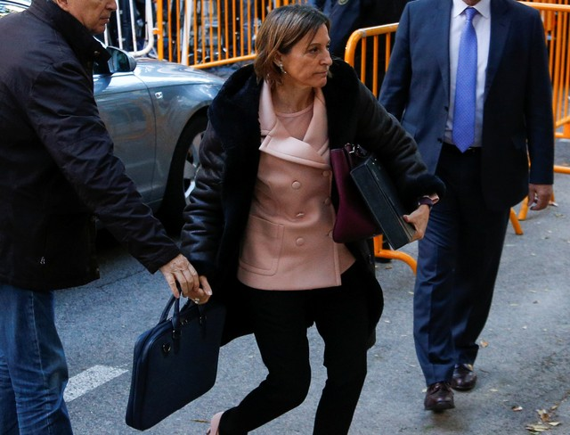 Catalan Parliament Speaker, Four Lawmakers Freed by Spanish Supreme Court