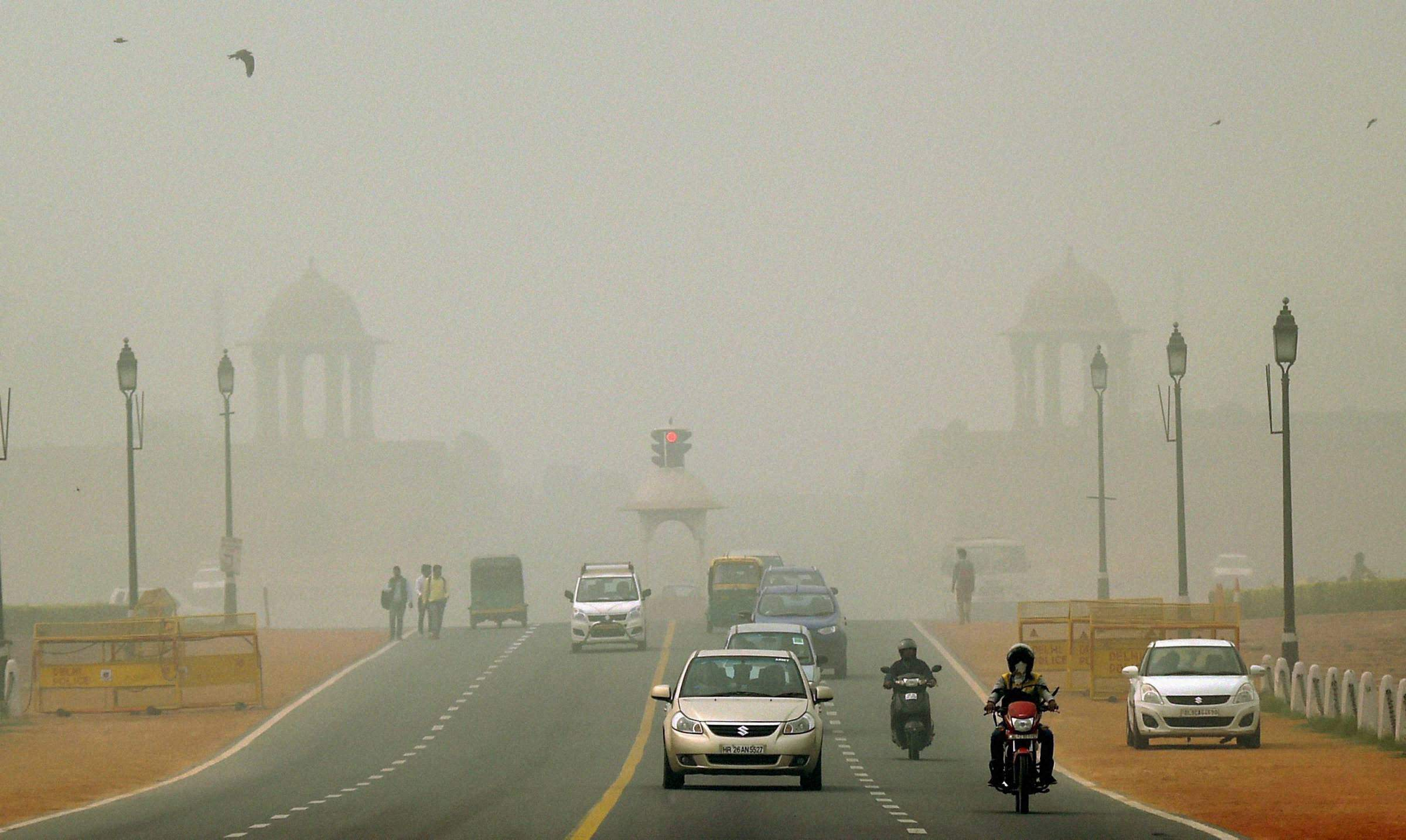 Air quality in Delhi had begun to sharply dip from moderate to a poor category in the first week of October. Credit: PTI