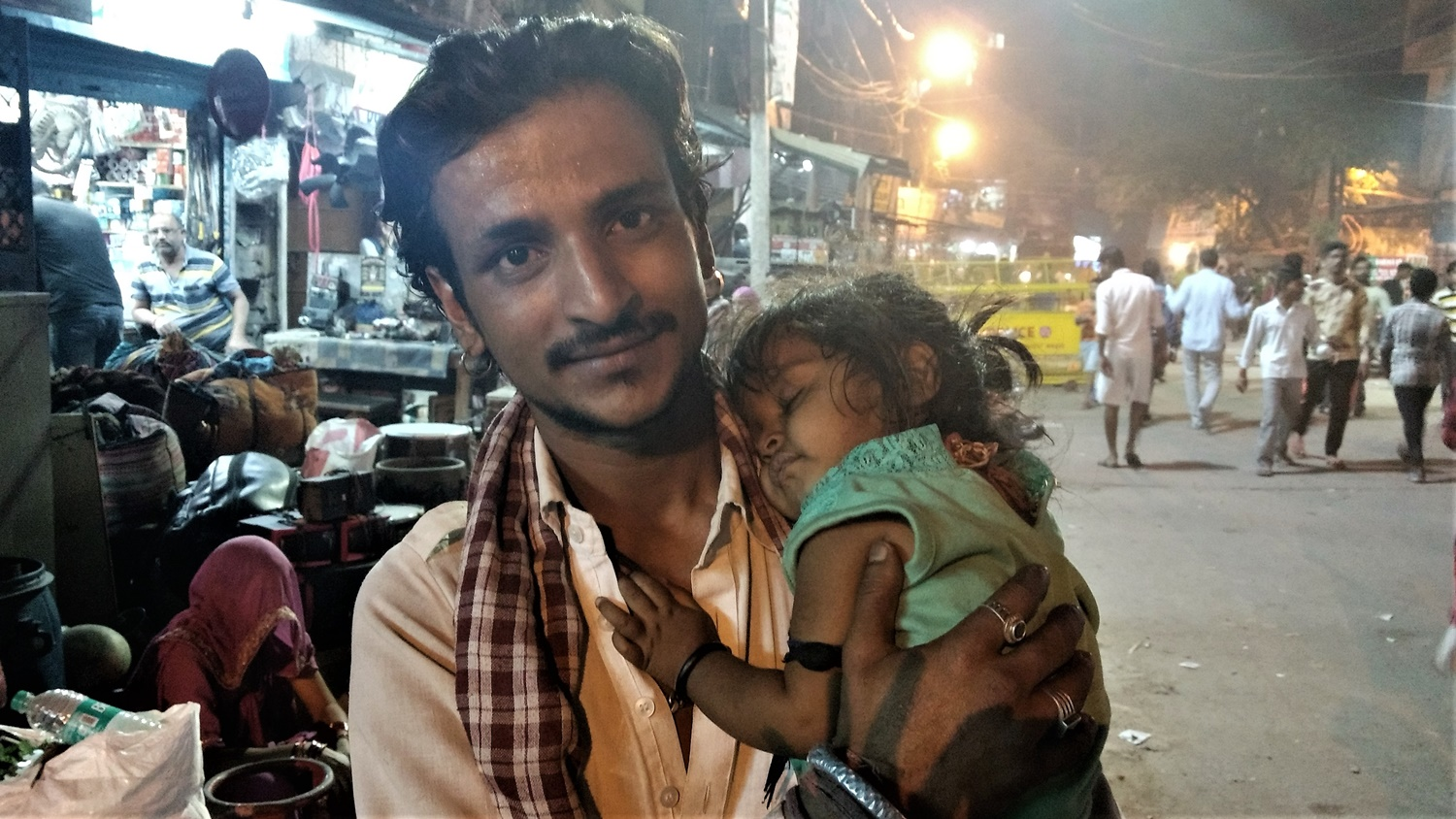 Toni Bhat with his daughter.