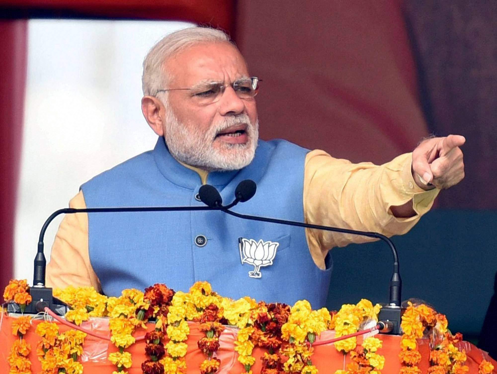 File photo of Prime Minister Narendra Modi. Credit: PTI