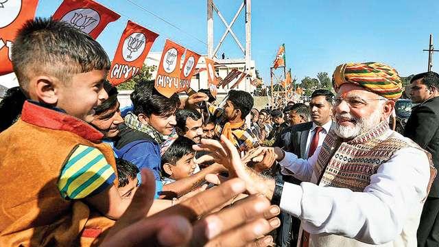 Prime Minister Narendra Modi in Bhuj. Credit: PTI
