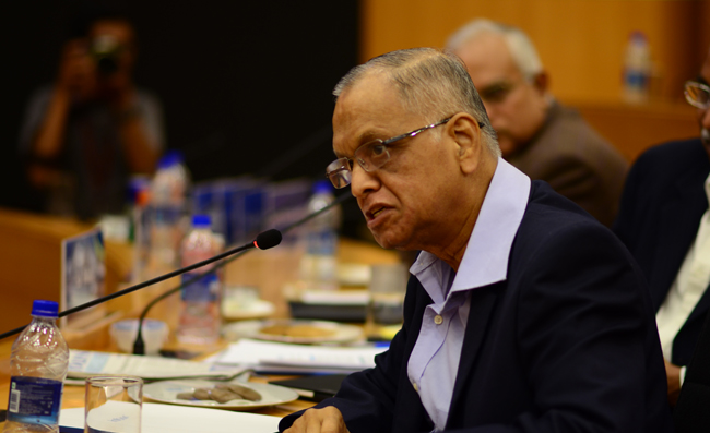 N.R. Narayana Murthy, trustee of the Infosys Science Foundation. Credit: ISF
