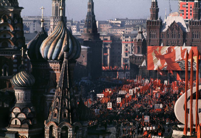 The 50th anniversary celebrations of October Revolution in Moscow in 1967