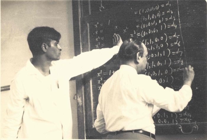Shrikhande and Bose at work. Courtesy: Shrikhande family/Bhavana