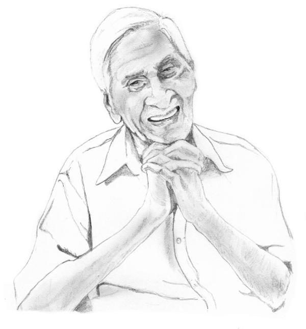 Portrait Shrikhande by Mohan R. Courtesy: Bhavana