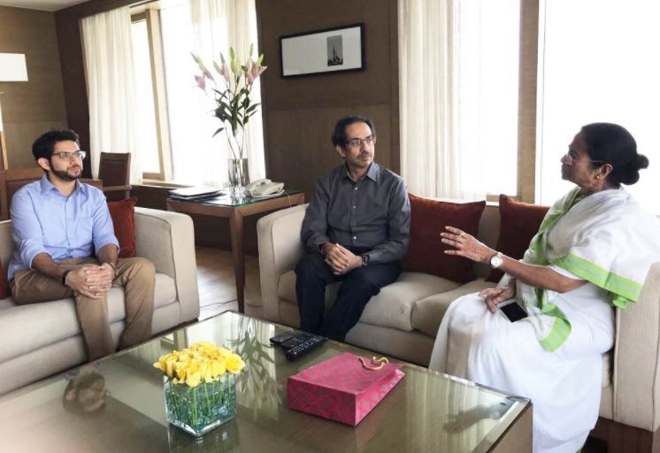 Uddhav Thackeray Calls on Mamata Banerjee in Mumbai