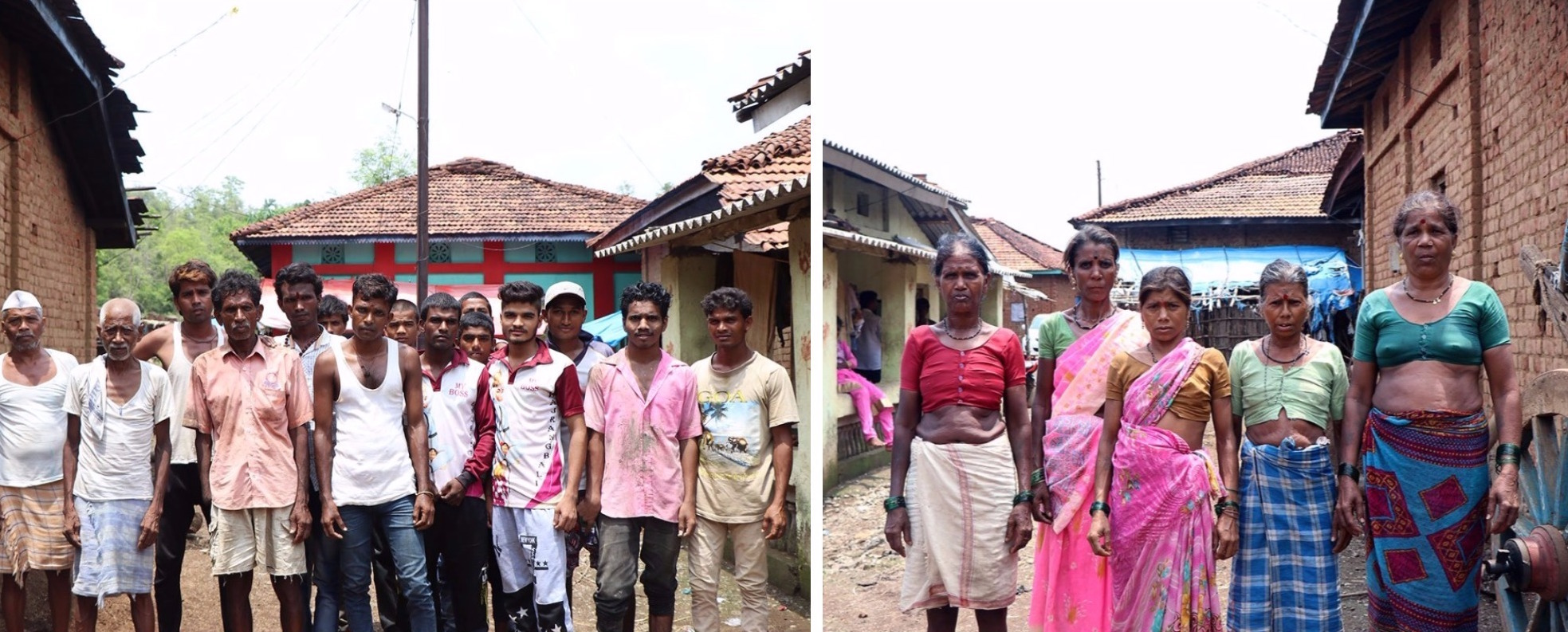 Thirty-five tribal families from Godhepaddul resettled in Murbichapada, but they didn't celebrate the harvest with the customary dhol and dance that year. Credit: Paresh Bhujbal