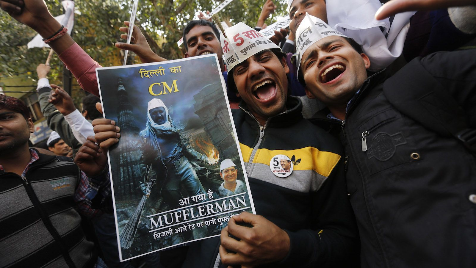 AAP supporters. Credit: Reuters