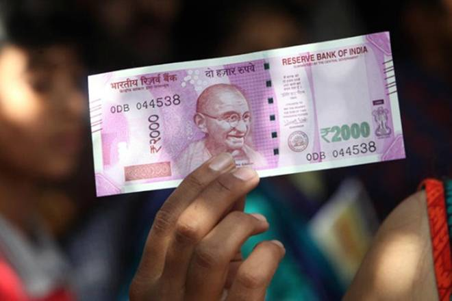 A Rs 2000 currency note. Credit: Reuters