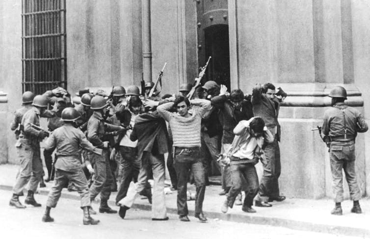 After leading a 1973 coup, Gen. Augusto Pinochet promised to protect the 'free and sovereign' nation of Chile. It didn't go well. Credit: Reuters