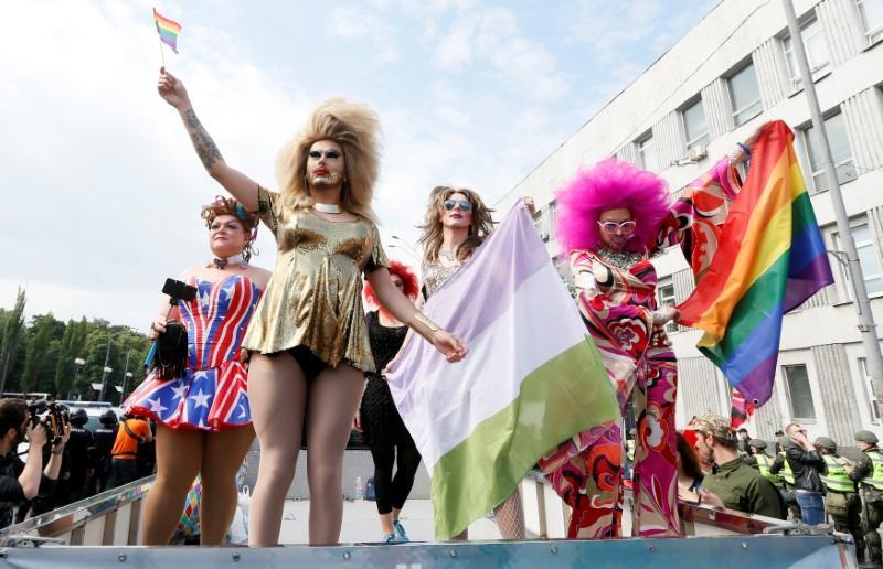 Participants take part in the equality march in Kiev, Ukraine, June 18, 2017. Credit: Reuters/Valentyn Ogyrenko