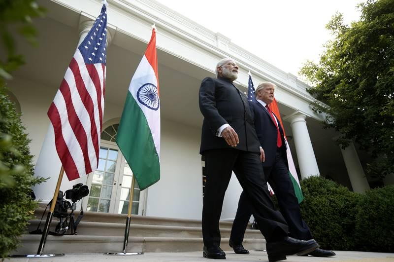 Prime Minister Narendra Modi with US President Donald Trump. Credit: Reuters