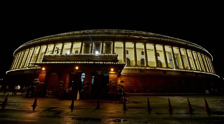 New Delhi: An illuminated Parliament ahead of midnight launch of 'Goods and Services Tax (GST)' in New Delhi. Credit: PTI