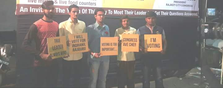 The young Rajkotian campaign. Credit: Damayantee Dhar