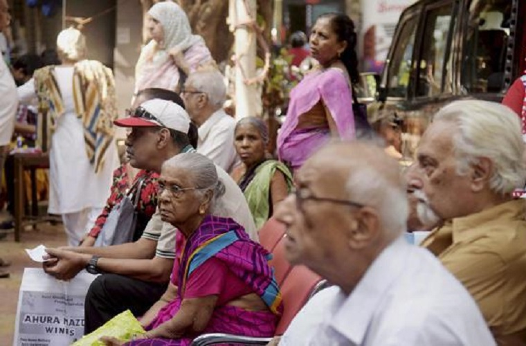 Are the elderly and differently abled being left out of India's digital banking drive? Credit: PTI