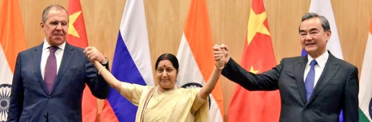Russia, India, China Talk of Combatting Terror, but Moscow and Beijing More in Sync on Connectivity, 'Quad'