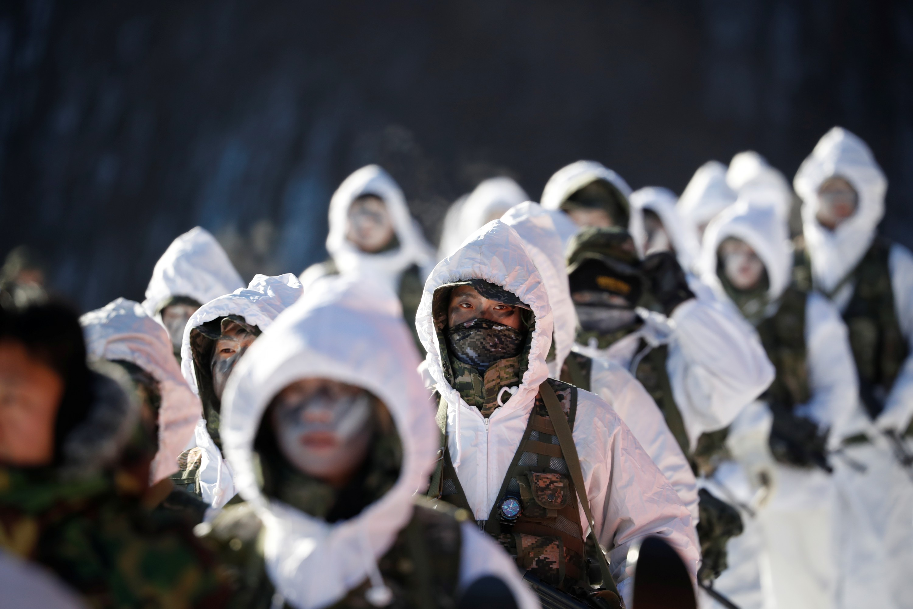 987cb4d23caf South Korean and U.S. Marines take part in a winter military drill in  Pyeongchang