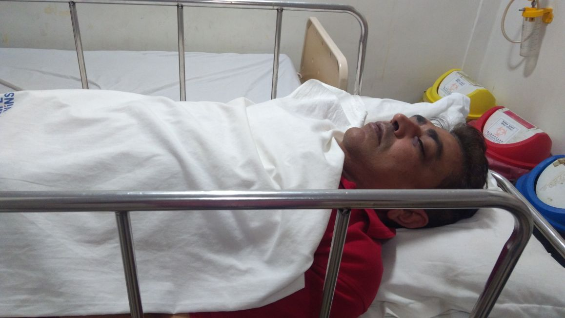 Divyanil Rajguru in hospital. Credit: Damayantee Dhar