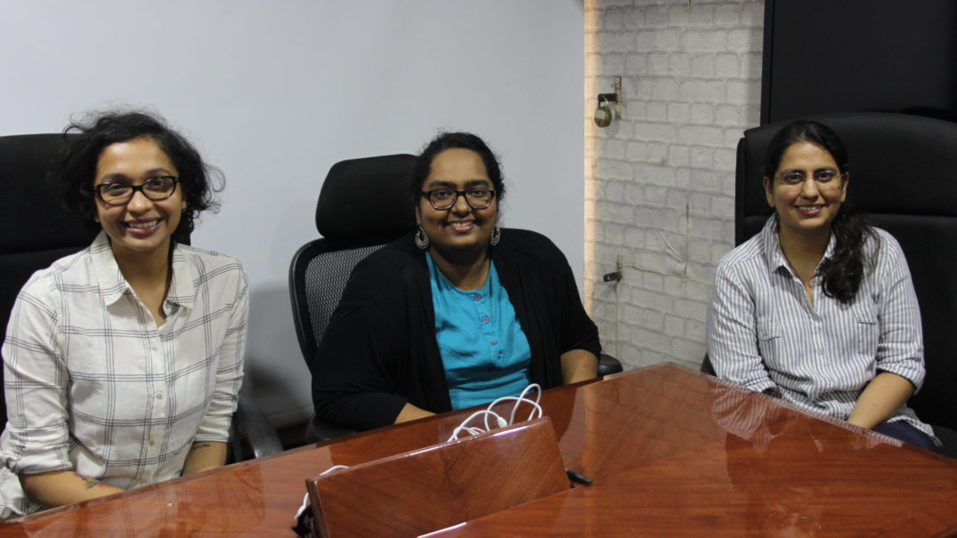 Aneree Parekh, Arathy Puthillam and Hansika Kapoor. Credit: The Life of Science