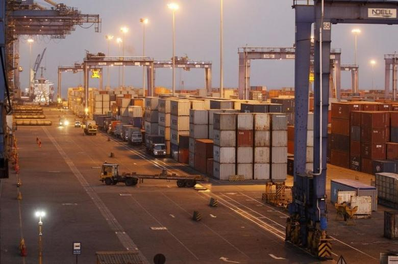 A general view of a container terminal is seen at Mundra Port in Gujarat April 1, 2014. Credit: Reuters/Amit Dave/Files