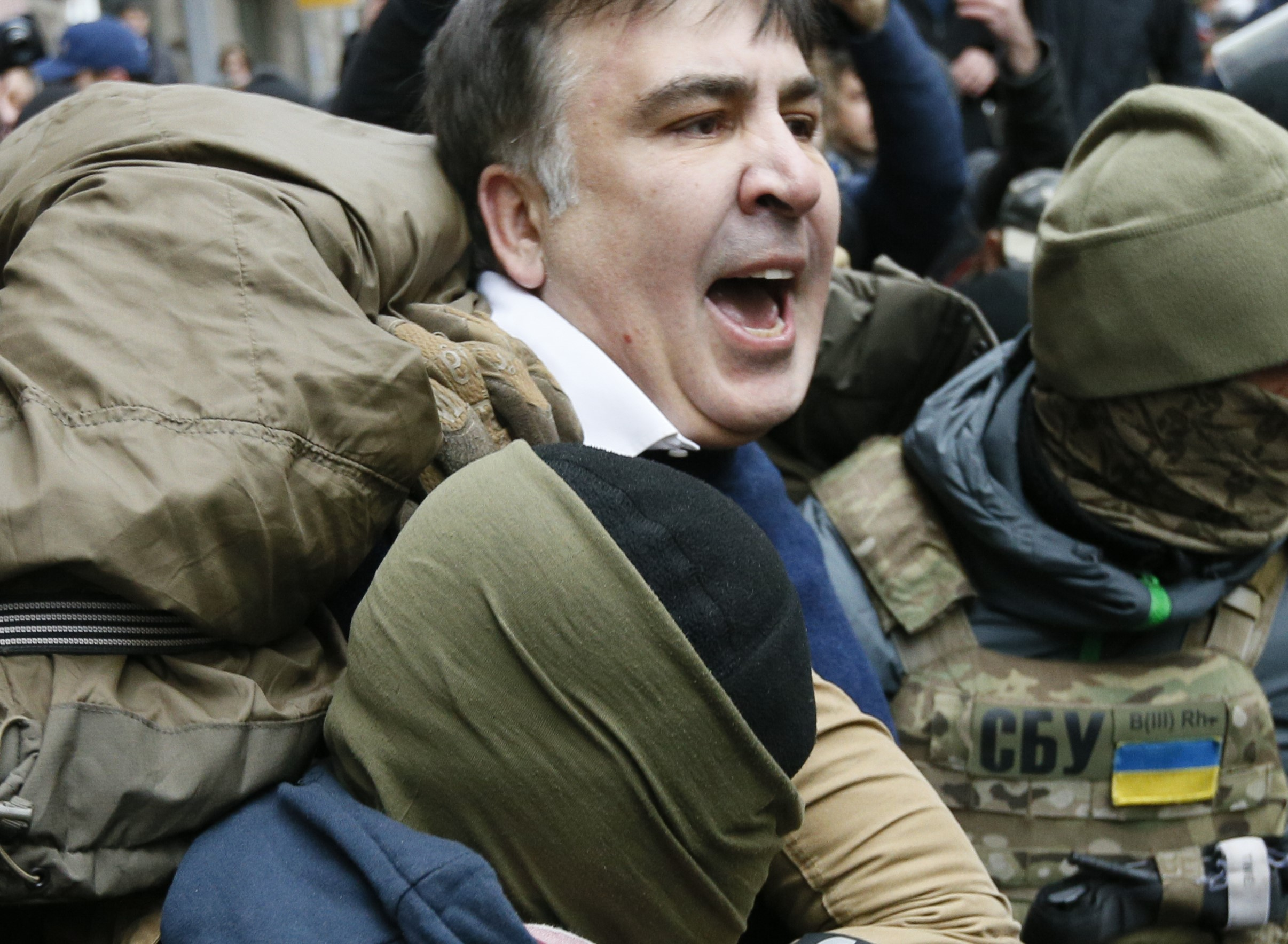 Former Georgian President Freed From Ukranian Police Custody by Supporters