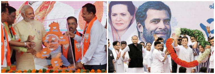 As Voting Ends in Gujarat, Congress, BJP Tussle Over Election Commission's Role