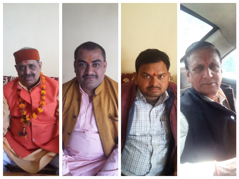 Left to right: Santosh Dubey, Pravin Sharma, Ram Ji Gupta, Vijay Tiwari.