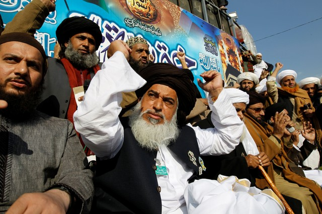 Leader of Tehreek-e-Labbaik Pakistan Khadim Hussain Rizvi. Credit: Reuters/Caren Firouz