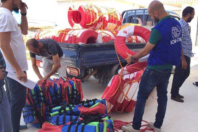 The UN Migration Agency (IOM) provides lifesaving equipment to Libyan authorities as part of a wider intervention to strengthen the Government's humanitarian capacity. Credit: UN Migration Agency