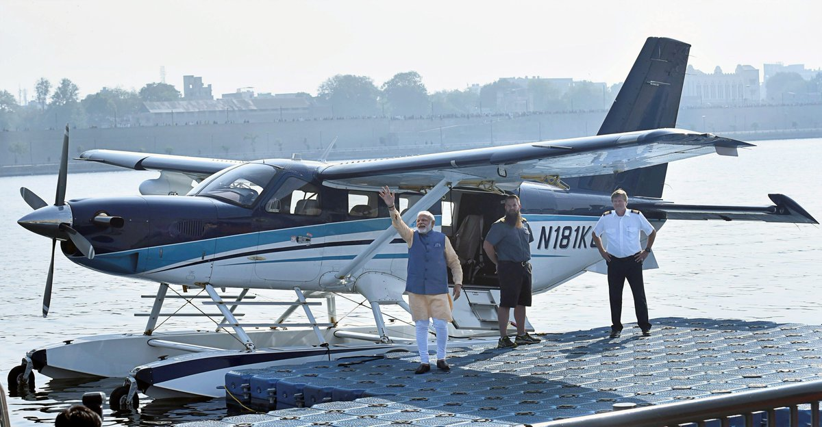 PM Modi's Seaplane Ride Violated SPG Blue Book, Guidelines on VIP Travel