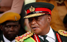 Commander of Zimbabwe Defence Forces General Constantino Chiwenga looks on after the swearing in of Emmerson Mnangagwa as Zimbabwe's new president in Harare, Zimbabwe, November 24, 2017. Credit: Reuters/Siphiwe Sibeko